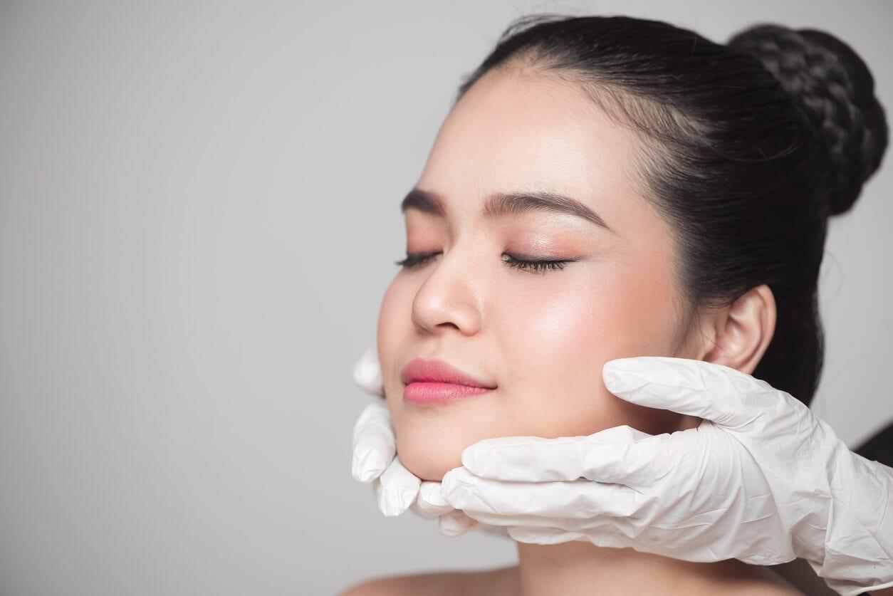 Beautiful Woman Before Plastic Surgery Operation Cosmetology.