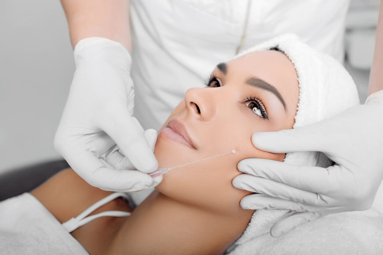 Cropped Woman Face Getting Facelift